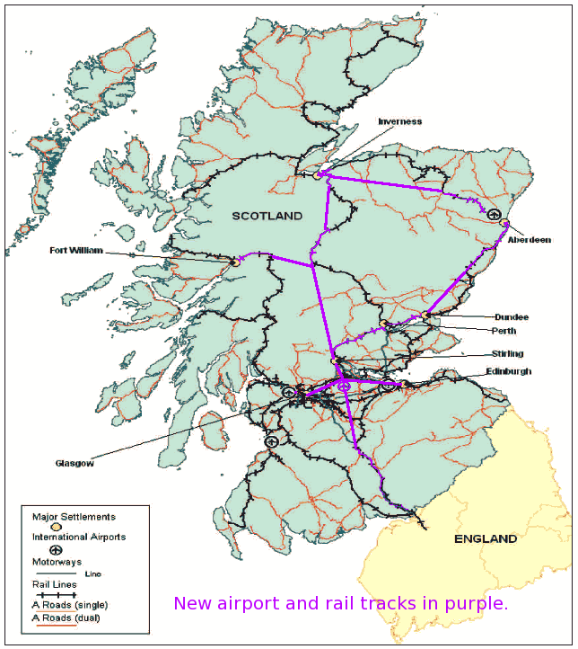 Train Routes In Scotland Map.November 2011 Denseman On The Rattis